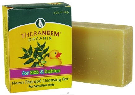 DROPPED: Organix South - TheraNeem Organix Cleansing Bar For Sensitive Kids & Babies - 4 oz. CLEARANCE PRICED