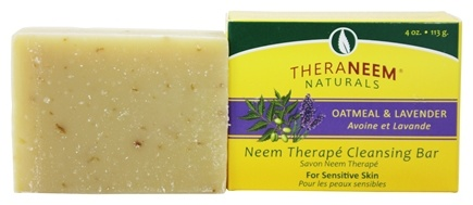 Organix South - TheraNeem Organix Cleansing Bar Botanical Oatmeal & Lavender - 4 oz.