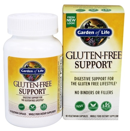 DROPPED: Garden of Life - Raw Gluten Free Support - 90 Vegetarian Capsules Formerly Immune Balance Gluten FREEze