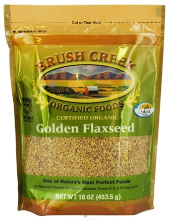 DROPPED: Brush Creek Organic Foods - Golden Flaxseed Organic Flaxseeds - 16 oz.