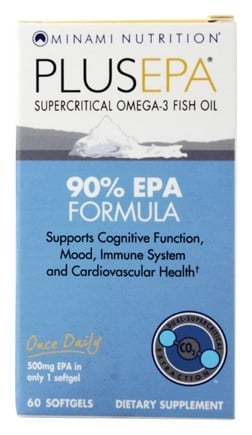 Minami Nutrition - PlusEPA Supercritical Omega-3 Fish Oil 500 mg. - 60 Softgels