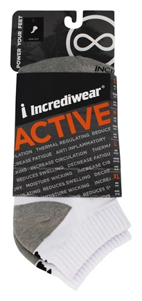 Incredisocks - Bamboo Charcoal Socks Below Ankle Sports Large White