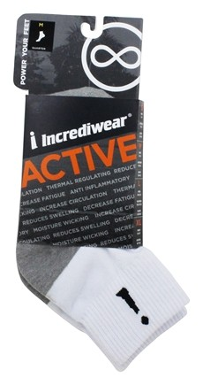 Incrediwear - Bamboo Charcoal Socks Above Ankle Sports Medium White