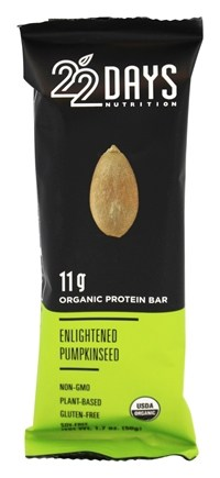 22 Days Nutrition - Vegan Energy Bar Enlightened Pumpkinseed - 1.7 oz.