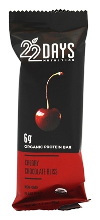 22 Days Nutrition - Organic Protein Bar Cherry Chocolate Bliss - 1.7 oz.