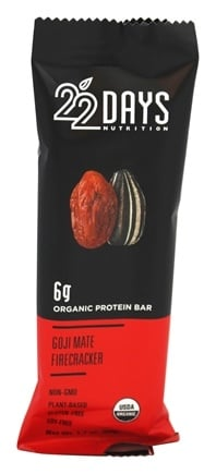DROPPED: 22 Days Nutrition - Vegan Energy Bar Goji Mate Firecracker - 1.7 oz.
