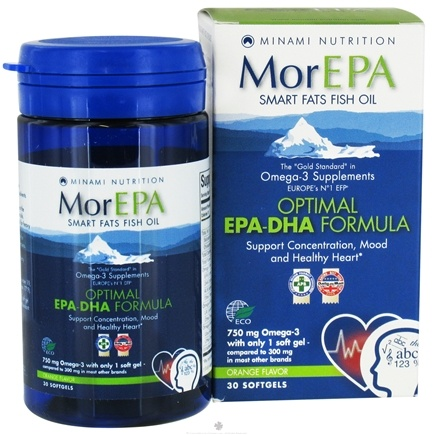 DROPPED: Minami Nutrition - MorEPA Smart Fats Fish Oil Optimal EPA-DHA Formula Orange - 30 Softgels