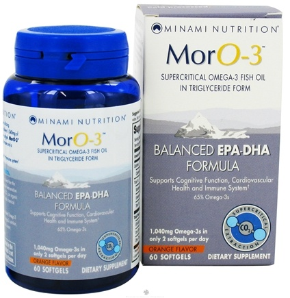 DROPPED: Minami Nutrition - MorO-3 Balanced EPA-DHA Formula Orange Flavor 1040 mg. - 60 Softgels Formerly MarinEPA Formula