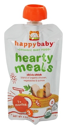 HappyFamily - Organic Baby Food Stage 3 Meals Ages 7+ Months Chick Chick - 4 oz.