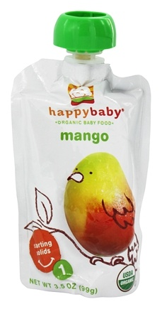 DROPPED: HappyBaby - Organic Baby Food Stage 1 Meals Mango - 3.5 oz. CLEARANCE PRICED