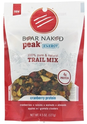 DROPPED: Bear Naked - Peak Energy Trail Mix 100% Pure & Natural Cranberry Protein - 4.5 oz.