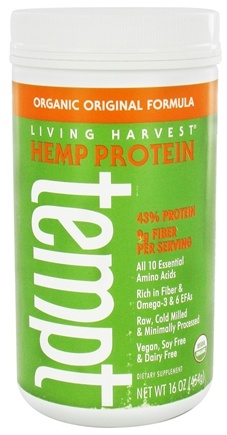 DROPPED: Living Harvest - Tempt Organic Hemp Protein Powder Original Formula - 16 oz.