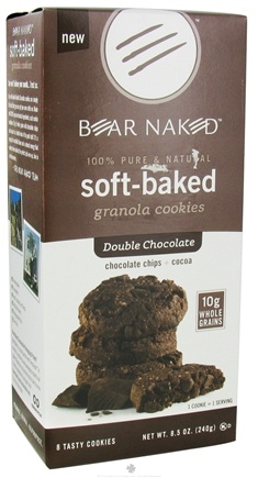 DROPPED: Bear Naked - Soft-Baked Granola Cookies 100% Pure & Natural Double Chocolate - 8.5 oz.