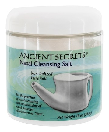 DROPPED: Ancient Secrets - Nasal Cleansing Salt Jar - 10 oz. CLEARANCE PRICED