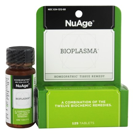 DROPPED: NuAge - Bio Plasma Homeopathic Tissue Remedy - 125 Tablets