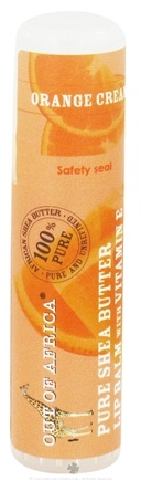 DROPPED: Out Of Africa - Pure Shea Butter Lip Balm with Vitamin E Orange Cream - 0.25 oz. (formerly SPF15) CLEARANCE PRICED