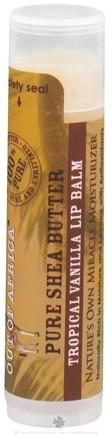 Out Of Africa - Pure Shea Butter Lip Balm Tropical Vanilla - 0.15 oz. (formerly SPF15)