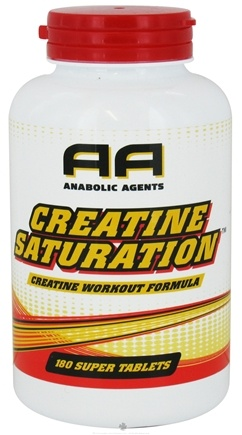 DROPPED: Anabolic Agents - Creatine Saturation Creatine Workout Formula - 180 Tablets CLEARANCE PRICED
