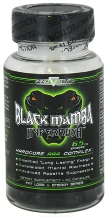 DROPPED: Innovative Laboratories - Black Mamba Hyper Rush Hardcore AAA Complex - 20 Capsules UNPUBLISHED
