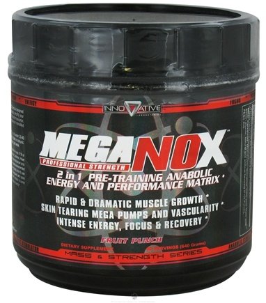 DROPPED: Innovative Laboratories - Mega NOx Professional Strength Pre-Training Anabolic Energy & Performance Matrix Fruit Punch - 640 Grams
