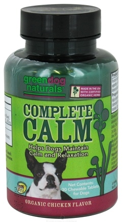 DROPPED: Green Dog Naturals - Complete Calm For Dogs Organic Chicken Flavor - 30 Chewable Tablets