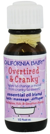 DROPPED: California Baby - Overtired & Cranky Essential Oil Blend Chamomile, Tangerine & Sweet Orange - 0.5 oz. CLEARANCE PRICED