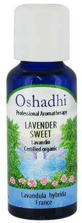 DROPPED: Oshadhi - Professional Aromatherapy Sweet Lavender Certified Organic Essential Oil - 30 ml. CLEARANCE PRICED