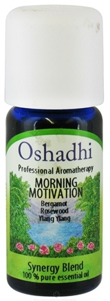 DROPPED: Oshadhi - Professional Aromatherapy Morning Motivation Synergy Blend Essential Oil - 10 ml. CLEARANCE PRICED