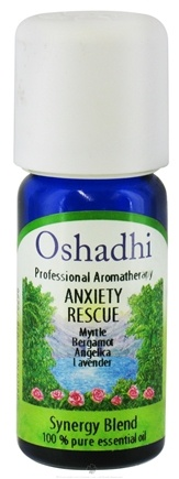 DROPPED: Oshadhi - Professional Aromatherapy Anxiety Rescue Synergy Blend Essential Oil - 10 ml. CLEARANCE PRICED