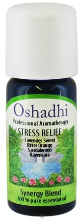 DROPPED: Oshadhi - Professional Aromatherapy Stress Relief Synergy Blend Essential Oil - 10 ml. CLEARANCE PRICED