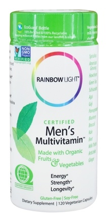 Rainbow Light - Certified Organics Men's Multivitamin - 120 Vegetarian Capsules
