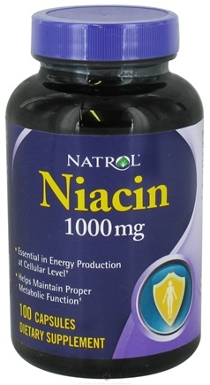DROPPED: Natrol - Niacin 1000 mg. - 100 Capsules CLEARANCE PRICED