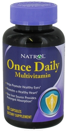 DROPPED: Natrol - Once Daily Multivitamin - 60 Capsules CLEARANCE PRICED