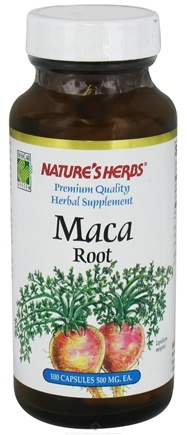 DROPPED: Nature's Herbs - Maca Root 500 mg. - 100 Capsules