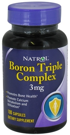 DROPPED: Natrol - Boron Triple Complex 3 mg. - 100 Capsules CLEARANCE PRICED