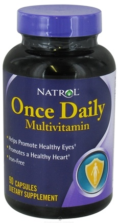 DROPPED: Natrol - Once Daily Multivitamin Iron Free - 90 Capsules