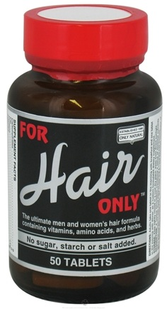 DROPPED: Only Natural - For Hair Only - 50 Tablets