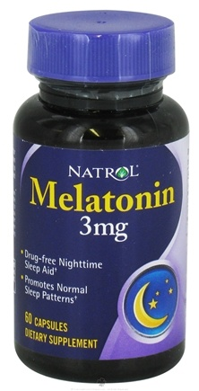 DROPPED: Natrol - Melatonin 3 mg. - 60 Capsules