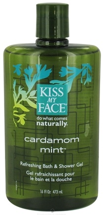 DROPPED: Kiss My Face - Bath & Shower Gel Refreshing Cardamom Mint - 16 oz. CLEARANCE PRICED