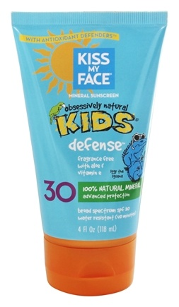 Kiss My Face - Kids Natural Mineral Sunblock Lotion Frangrance-Free 30 SPF - 4 oz.