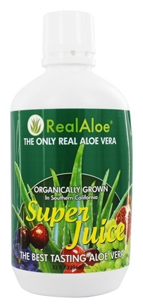 Real Aloe - Organically Grown Real Aloe Vera Super Juice - 32 oz.