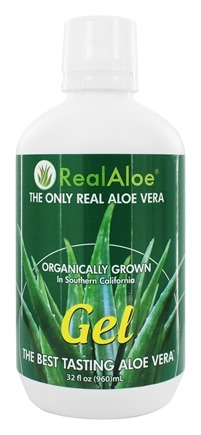 Real Aloe - Organically Grown Real Aloe Vera Gel - 32 oz.