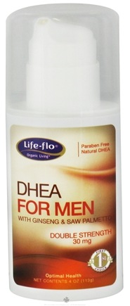 Life-Flo - DHEA For Men With Ginseng & Saw Palmetto Double Strength 30 mg. - 4 oz.