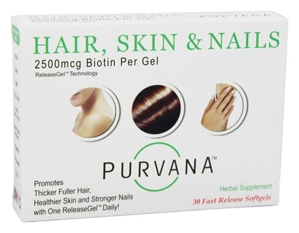 Heaven Sent - Purvana Hair Skin & Nails 2500 mcg. - 30 Softgels