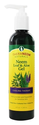 Organix South - TheraNeem Organix Neem Leaf & Aloe Gel Cooling Therape Lavender & Peppermint - 8 oz.