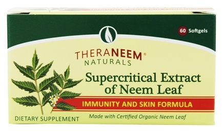 Organix South - TheraNeem Organix Supercritical Extract of Neem Leaf Immunity & Skin Support - 60 Softgels