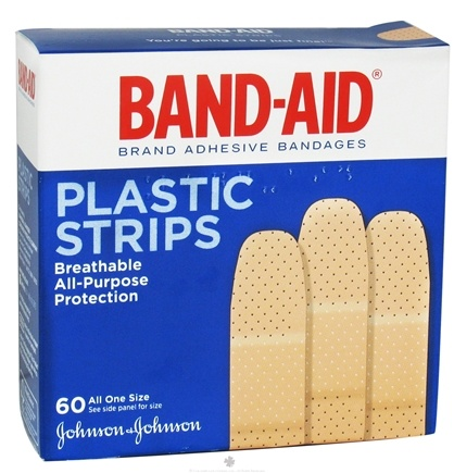 DROPPED: Johnson & Johnson - Band-Aid Adhesive Bandage Plastic Strips All One Size - 60 Bandage(s) CLEARANCE PRICED