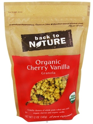 DROPPED: Back To Nature - Granola Organic Cherry Vanilla - 12 oz. CLEARANCE PRICED