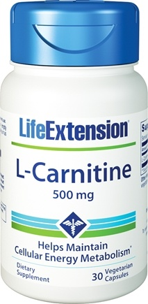 DROPPED: Life Extension - L-Carnitine 500 mg. - 30 Vegetarian Capsules
