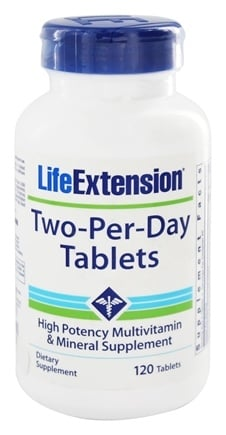 Life Extension - Two-Per-Day High Potency Multivitamin & Mineral - 120 Tablets